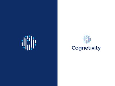 Cognetivity logo neurology logo information eye vector dementia data concept branding brand