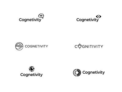 Collection of unused logos for Cognetivity neurology logo information eye vector dementia brain data concept branding brand
