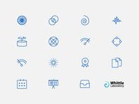 Whittle Laboratory bespoke icon set