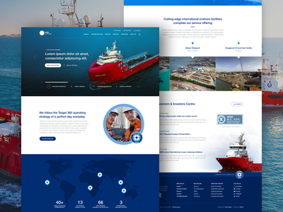 MMA Offshore for Clue Design boats ux ui engineering marine landing page web design