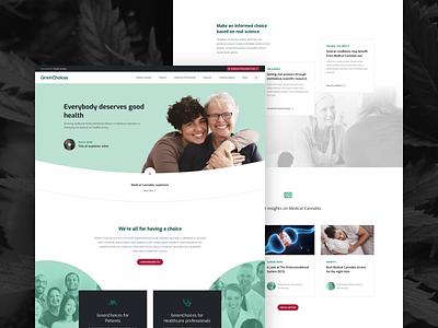 Greenchoices UX/UI design website health cannabis healthcare medical landingpage ui ux webdesign