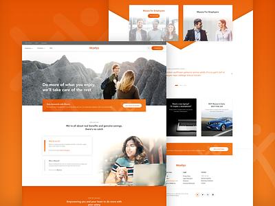 Maxxia UX/UI design savings finance salary landing page design landing page ux ui web design