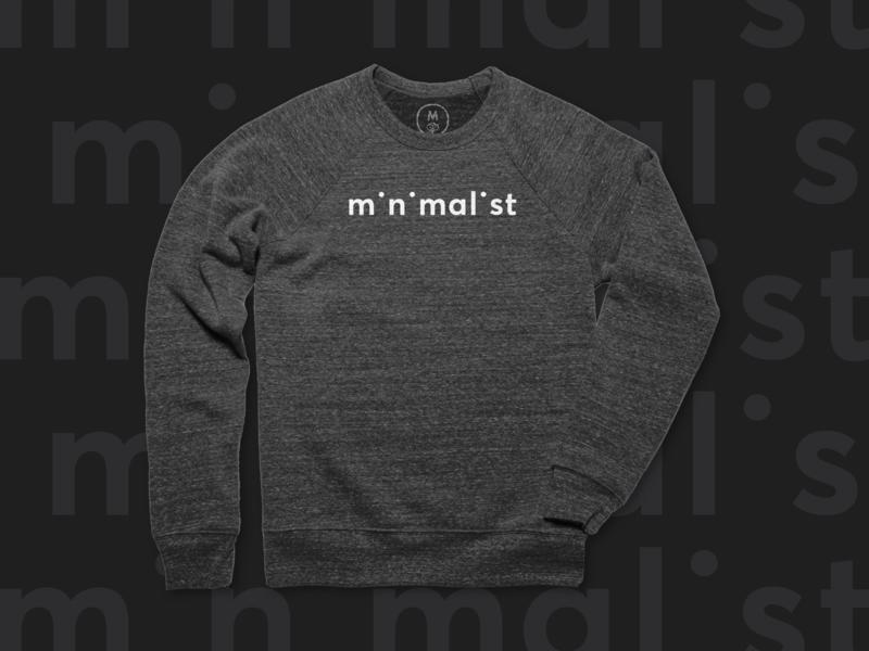 Minimalist Sweatshirt sweatshirt apparel design cottonbureau minimalist minimal typography vector