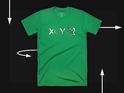 XYZ T-shirt design minimal illustration vector space axis geometry geometric appareal cottonbureau tshirt design