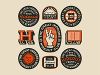 The Hideout Club hideout lockup art design dribbble badge identity typography logo graphic design branding illustration