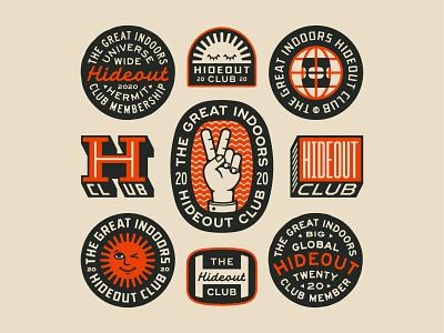 The Hideout Club hideout lockup art design dribbble badge identity typography logo graphic design branding illustration