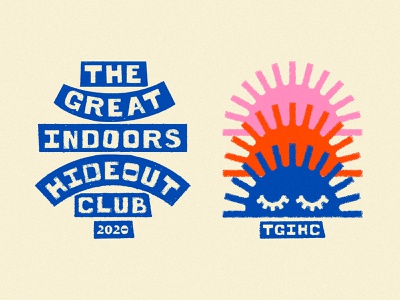 Hideout Tee WIP's hideout sun hand drawn lockup art design dribbble badge identity typography logo graphic design branding illustration