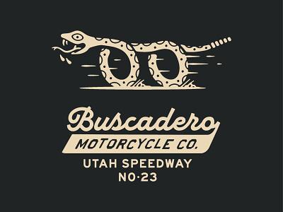 Buscadero Moto Co. apparel motorcycles moto design badge identity typography logo branding graphic design illustration