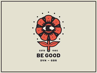 Good Flower logo branding eye flower portfolio typography illustration handdrawn graphic design design art