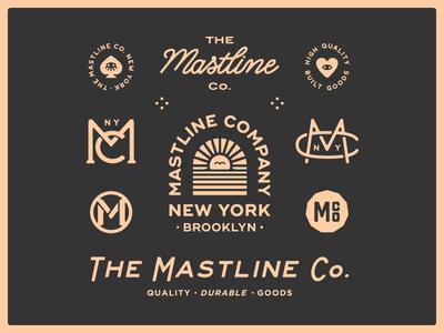 The Mastline Co. art design graphic design hand drawn illustration typography portfolio new york monogram branding logo
