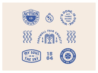 Warm ups with Shakespeare art design graphic design handdrawn illustration typography portfolio shakespeare branding logo