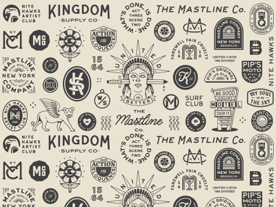 2018 Roundup freelance vector apparel brand drawing monogram handdrawn portfolio art lockup design marks dribbble badge identity typography graphic design logo illustration branding