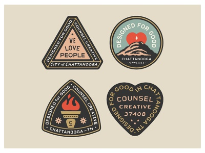 CC Badge set tennessee community apparel drawing handdrawn portfolio art lockup design marks dribbble badge identity typography logo graphic design branding illustration