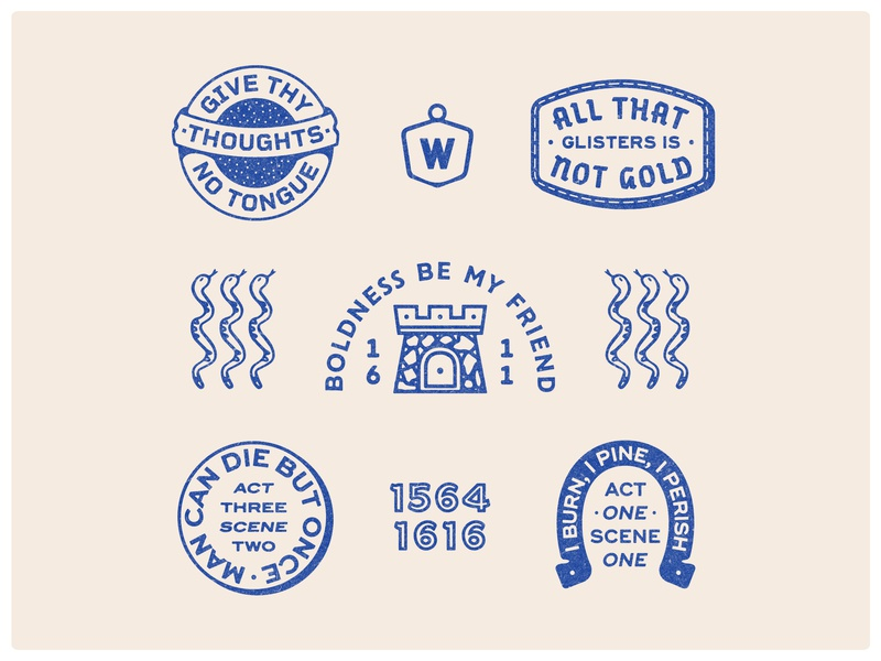 Warm ups with Shakespeare II shakespeare brand drawing handdrawn portfolio art lockup design marks dribbble badge logo typography graphic design branding illustration