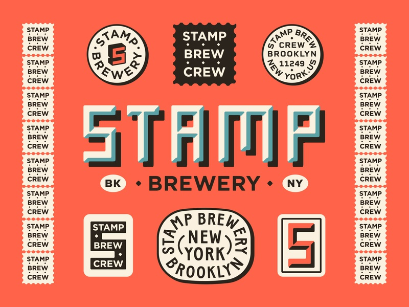Stamp Brewery new york city brewery vector apparel brand drawing handdrawn portfolio art lockup design marks dribbble badge identity typography logo graphic design branding illustration