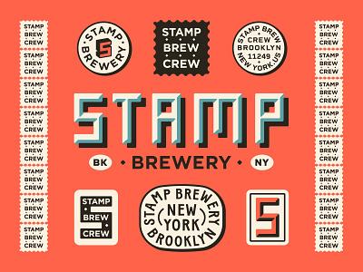 Stamp Brewery new york city brewery vector apparel brand drawing handdrawn portfolio art lockup design marks dribbble badge identity typography logo graphic design branding illustration