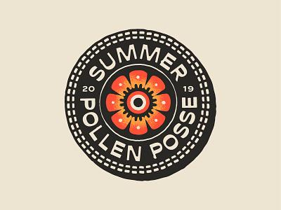 Summer Pollen Posse brand apparel vector drawing handdrawn portfolio art lockup design dribbble badge identity logo typography graphic design branding illustration