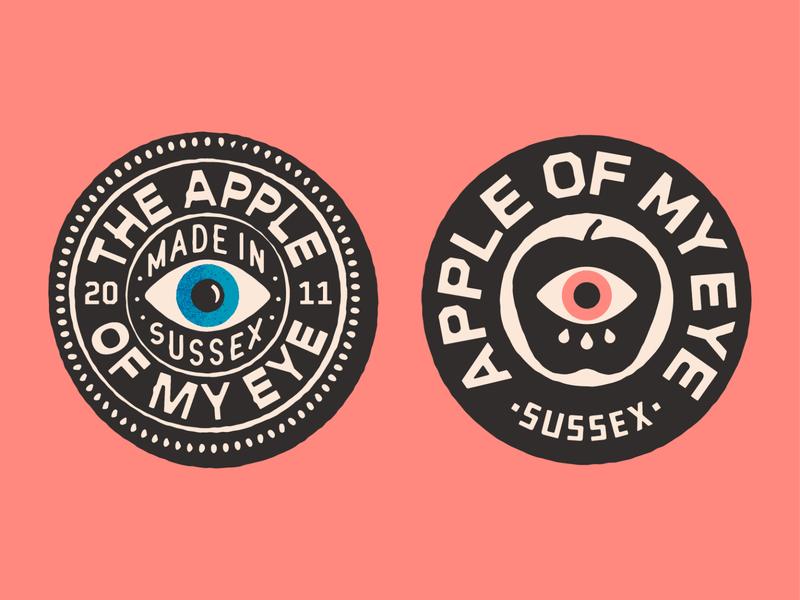 The Apple Of My Eye apparel brand drawing eye vector portfolio hand drawn art lockup design dribbble badge identity typography logo graphic design branding illustration