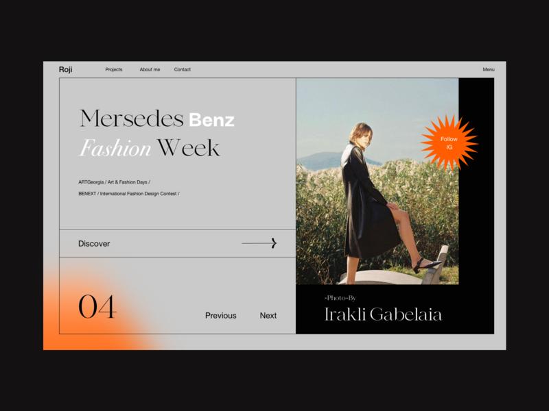 Roji blur gradient blurred color style dark photography logo fashion model webdesign web design photography