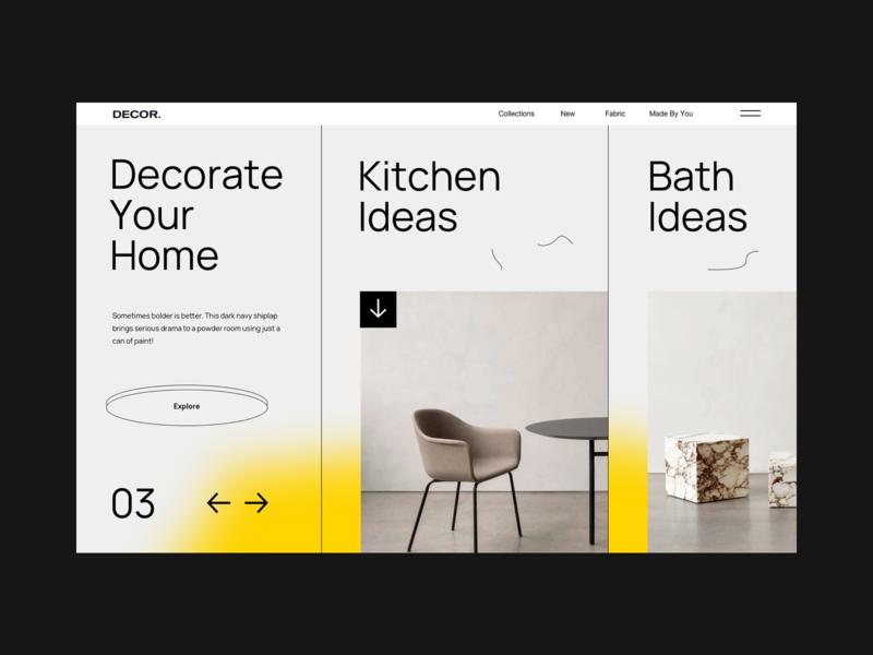Decor. gradient blurred blur shop product georgia boldmonkey style house home decor landing web webdesign interior websites website