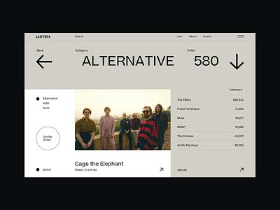 Listen style tbilisi georgia artist web design webdesign listen spotify player play music
