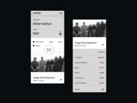 Listen mobile app design mobile ui song players player listen music responsive mobile app mobile design mobile