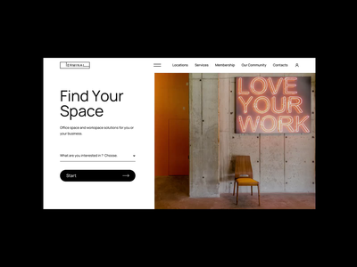 Terminal | Behance Case Study (Turn Sound On) new style map contact motion web design website webdesign animation coworking