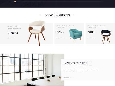 Furniture Website sofa ecommerce colour color store e-commerce product shop web website landing furniture