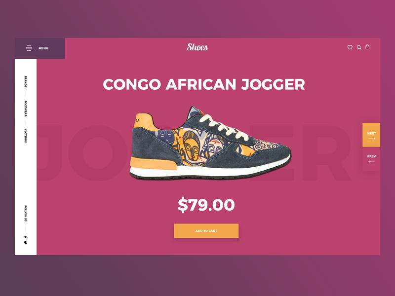 E-commerce shop main color landing