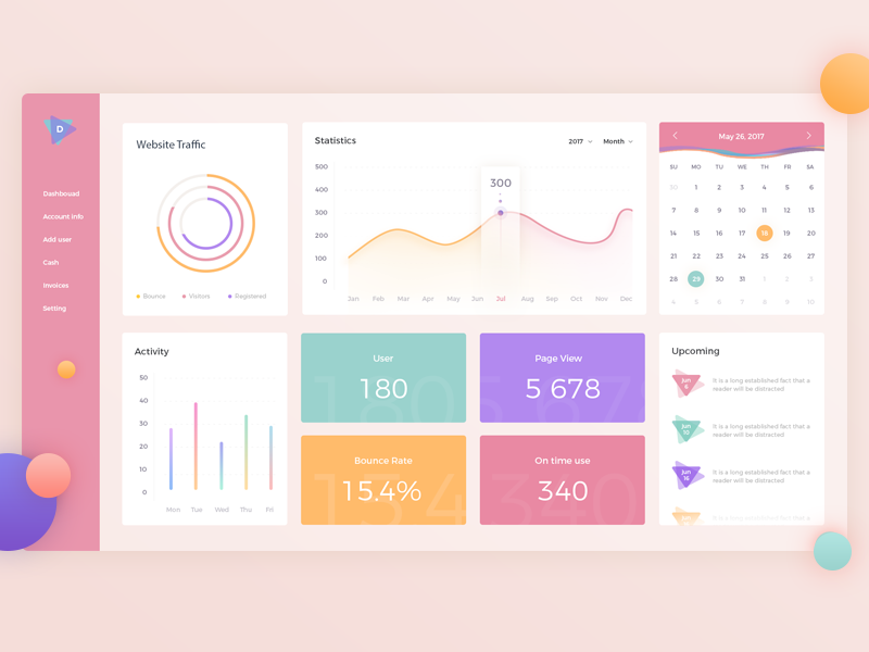 Dashboard UI design web ux ui tables invoices interface flat dashboard clean app analytics