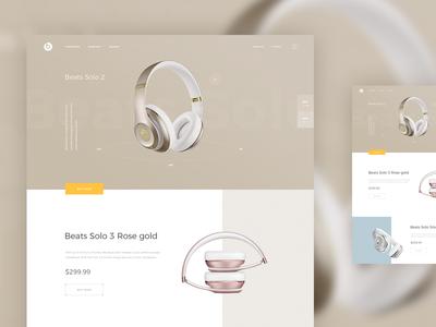 Beatsbydre - Headphones headphone headphones landing website web ux ui shop product e-commerce store color