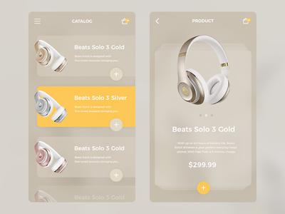 Headphones App headphone mobile app color store e-commerce product shop ui ux headphones
