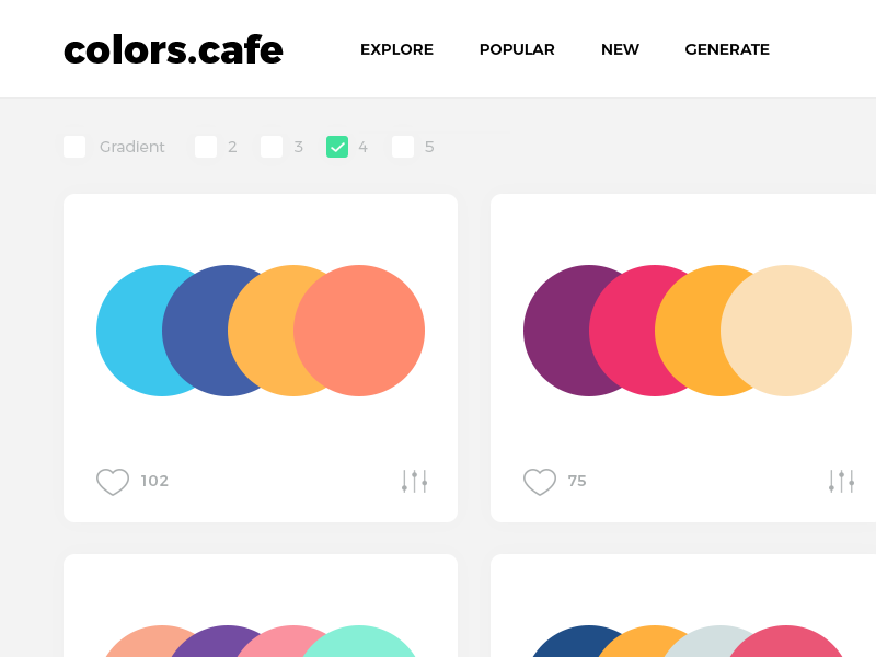 Colors.Cafe (WIP) palettes palette tamarashvili giga scheme combine clean userinteface uidesign colors color