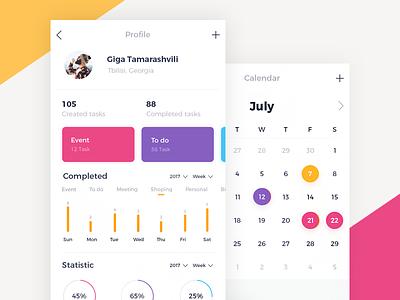 To Do App UI tamarashvili giga reminder to do ui mobile ios calendar color event app