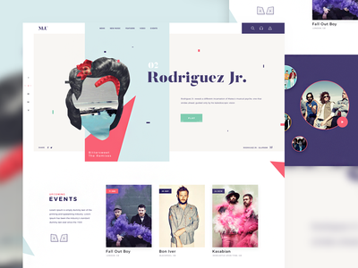 Music Landing Page tamarashvili giga calendar color landing userinterface web music