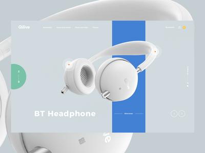 Headphone UI store shop product landing headphones headphone e-commerce color tamarashvili giga