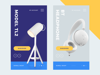 Product App UI lamp tamarashvili store shop landing product headphones headphon giga e-commerce color