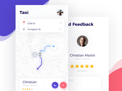 Taxi App UI track tracking maps map profile ios ux ui color app taxi