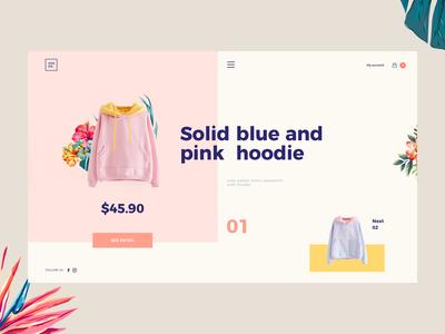 Hoodie e-commerce ecommerce web tamarashvili giga flower color yellow pinky hoodie