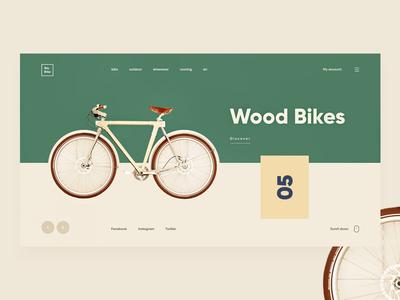 Bikes Shop wood bike ecommerce yellow green color giga shop bikes
