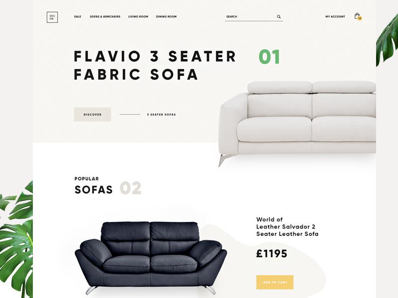 Decor furniture landing tamarashvili shop product e-commerce giga color colour ecommerce sofa