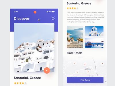 Travel App UI ios11 map tamarashvili giga inspiration travel booking clean flight color