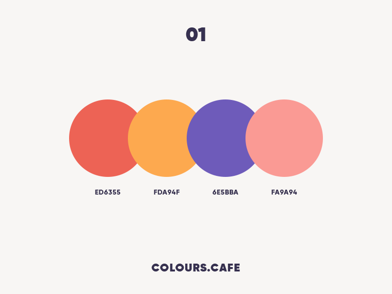 Colours.Cafe palettes userinteface uidesign tamarashvili scheme giga combine colors color clean