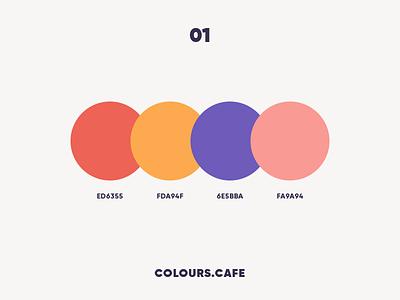 Colours.Cafe palettes userinteface uidesign tamarashvili scheme giga combine colors color clean