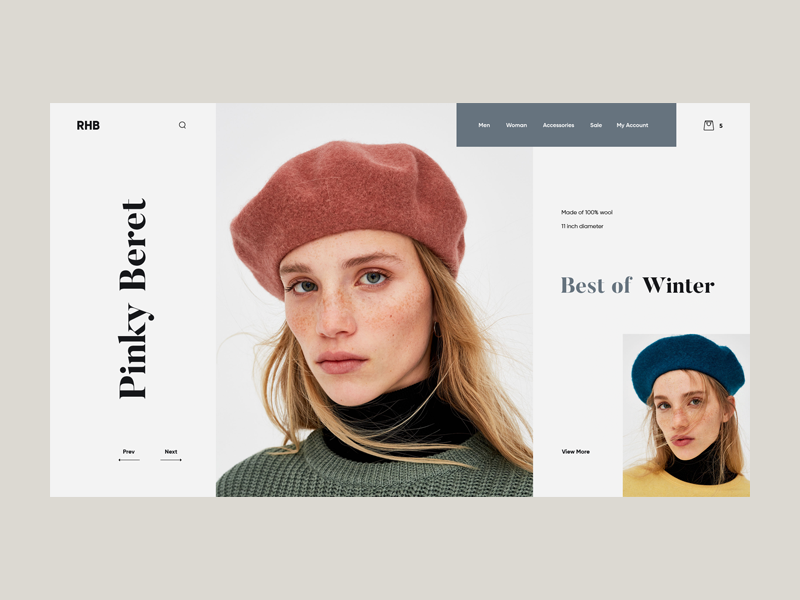 RHB design photograpgy fashion landing product art ui ux web giga tamarashvili