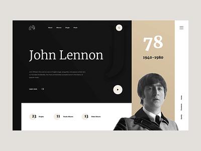 HBD John Lennon beatles landing history listen player play music lennon
