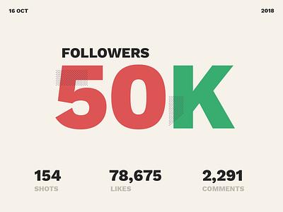 50k Followers 50kfollkowers 50000 50k colors typography colours follower followers