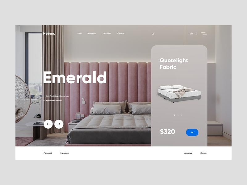 Modern. interior cart shop ecommerce bed furniture modern