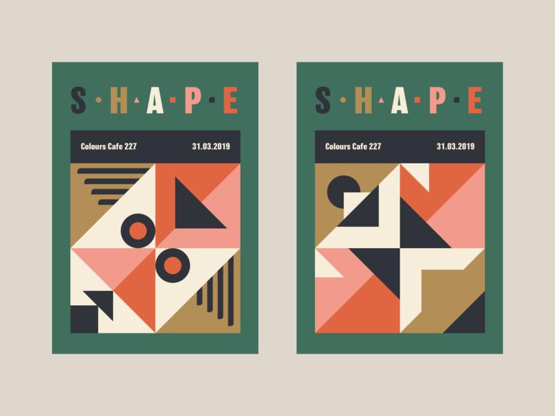 Shape + Colour graphic  design illustration poster style exploration geometric shape colours colors
