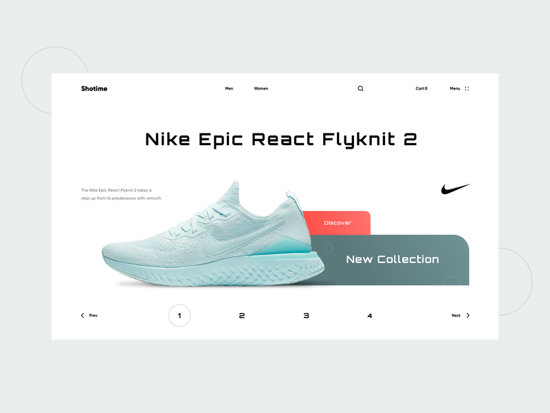 Shotime fashion ecommerce shop sneaker nike shoe checkout cart